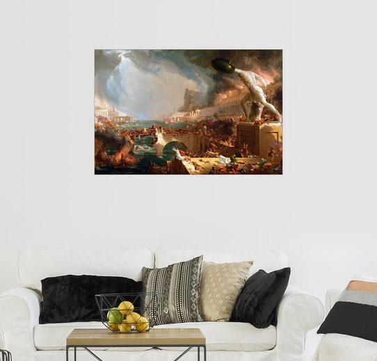 Posterlounge Wandbild - Thomas Cole »Der Fall von Rom (Zerstörung)«