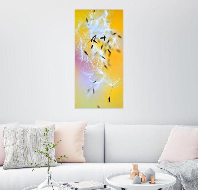 Posterlounge Wandbild - Ludger Föster »Fallschirmchen gelb« | Dekoration > Bilder und Rahmen > Bilder | Gelb | Posterlounge