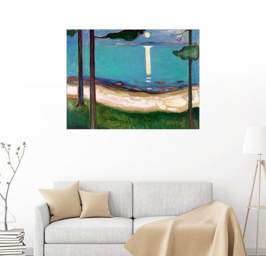 Posterlounge Wandbild - Edvard Munch »Mondlicht«