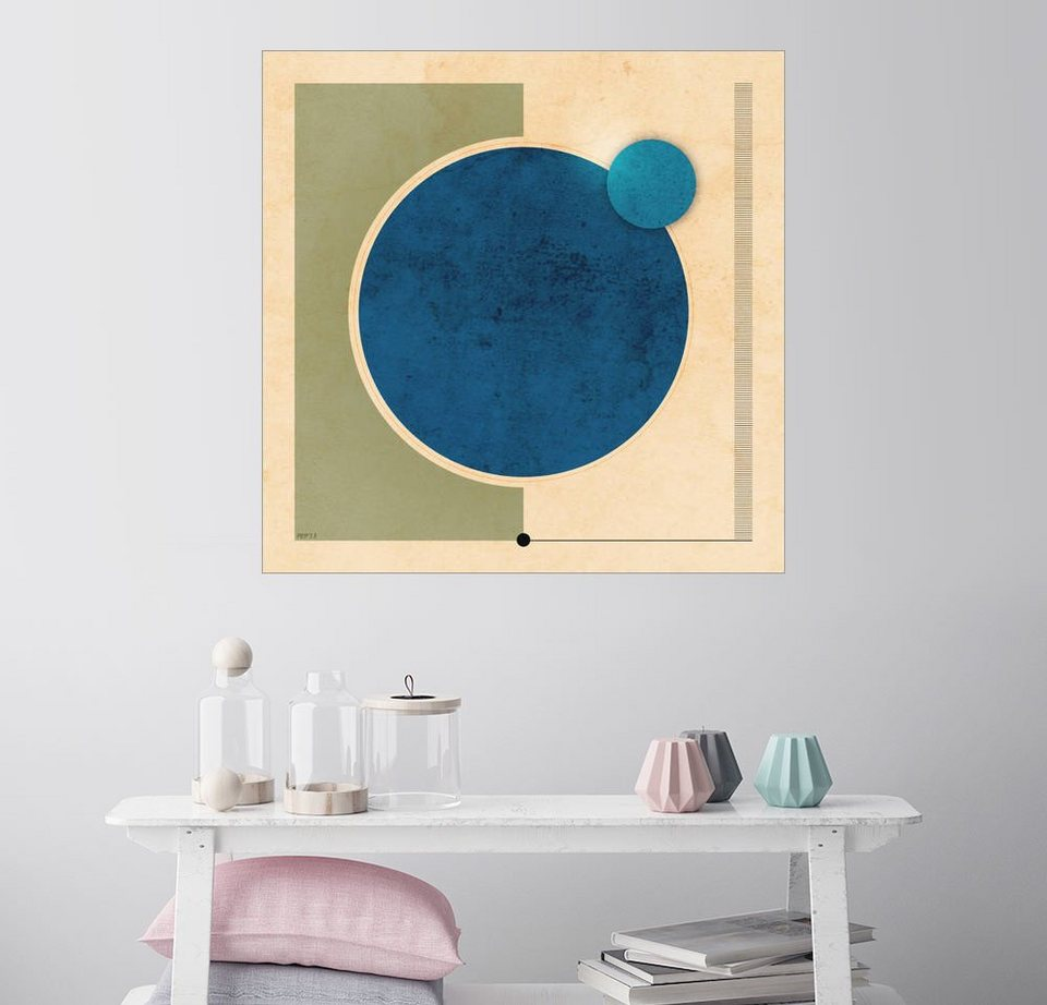 posterlounge wandbild phil perkins erde und mond grafik online kaufen otto. Black Bedroom Furniture Sets. Home Design Ideas