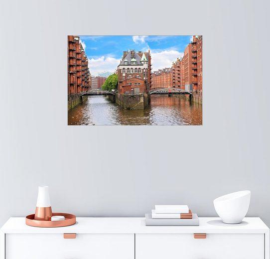 Posterlounge Wandbild - Miva Stock »Lager in der Speicherstadt Hamburg«