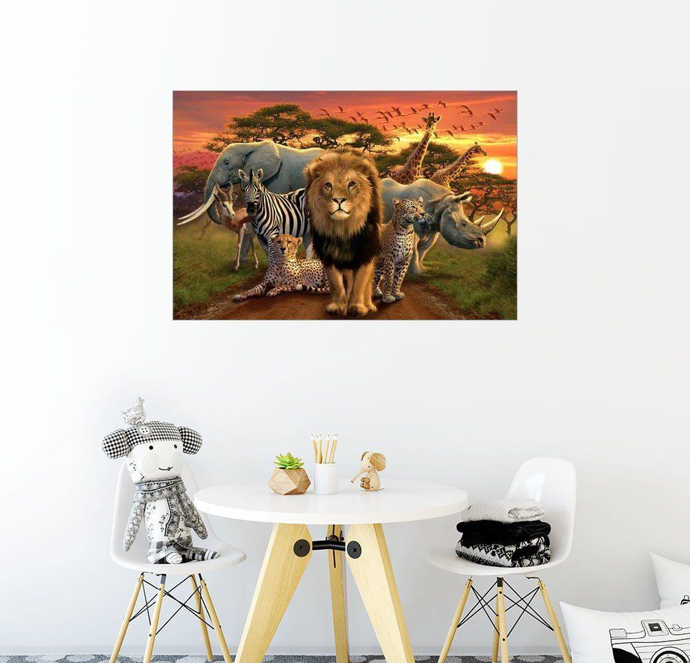 Posterlounge Wandbild - Andrew Farley »Afrikanische Tiere«