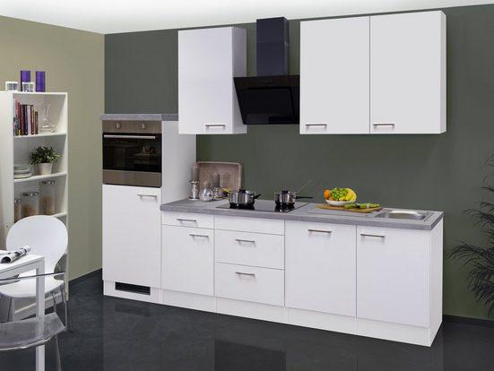 Küchenzeile mit E-Geräten »Kopenhagen«, Gesamtbreite 280 cm