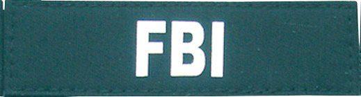 HEIM Klettlogo »FBI«, (2 St), für Hunde-Profigeschirr