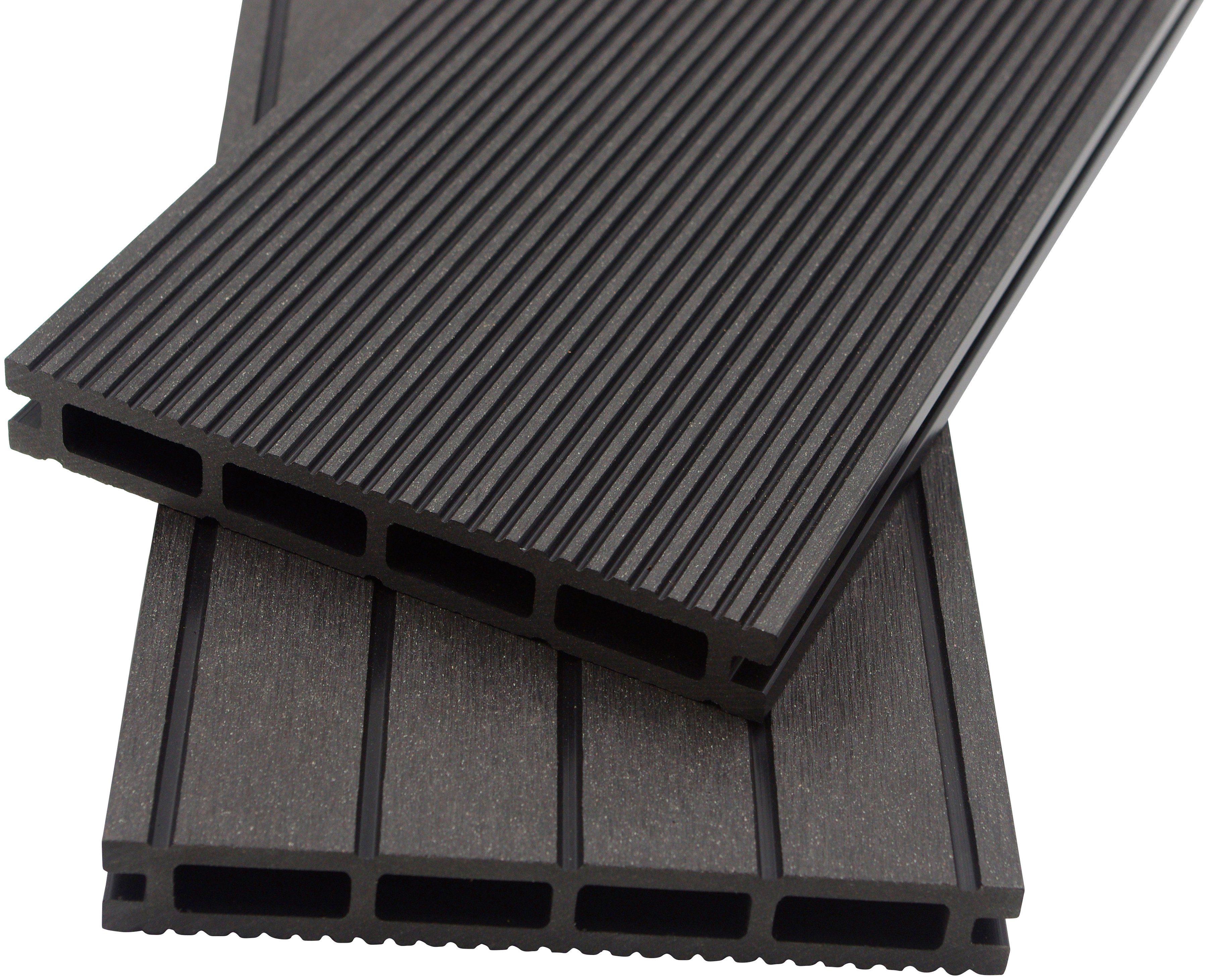 HOME DELUXE Komplett-Set: WPC-Terrassendielen , inkl. Unterkonstruktion, 4 m², anthrazit