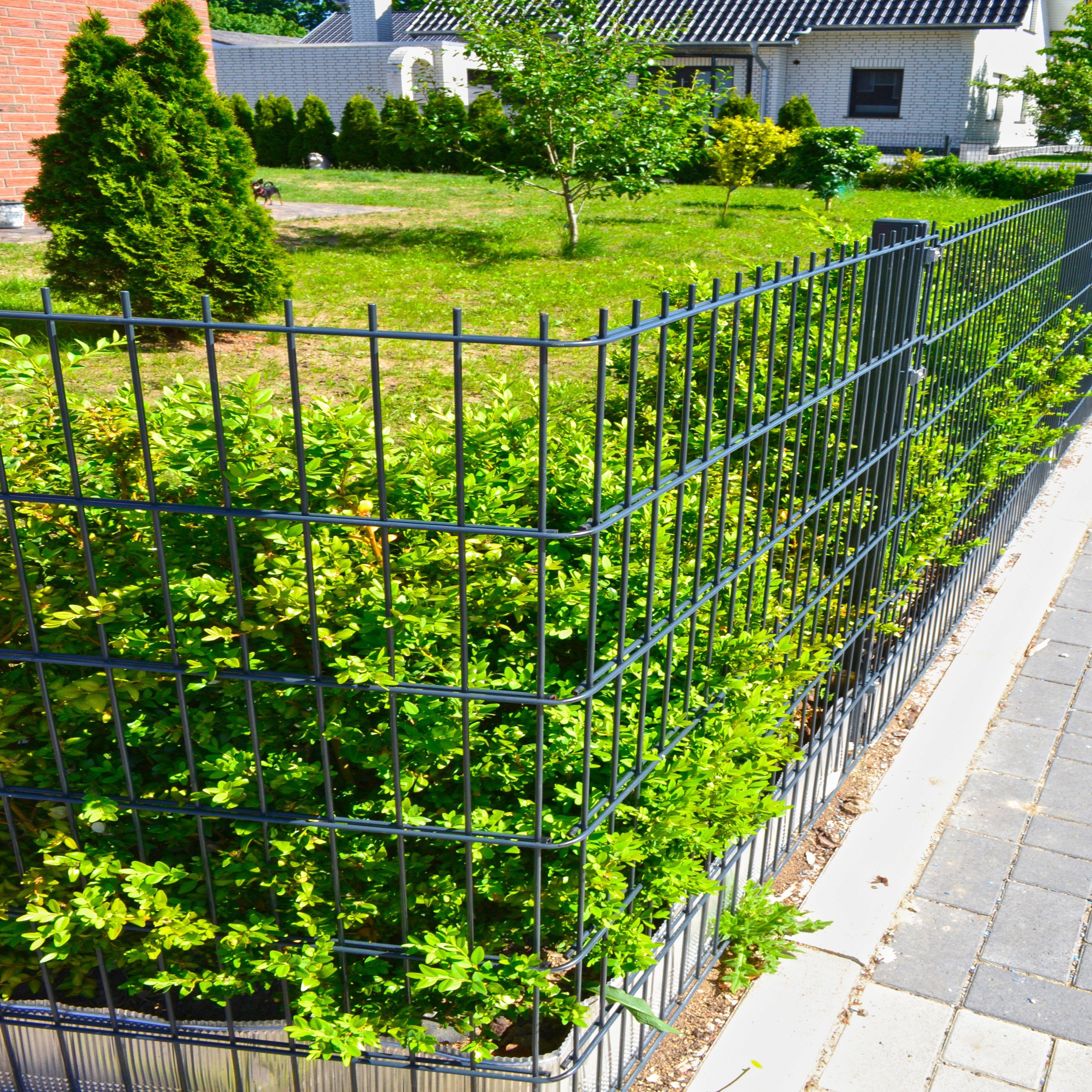 HOME DELUXE Doppelstabmattenzaun , HxL: 1,43x30 Meter | Garten > Zäune und Sichtschutz | Stahl | HOME DELUXE