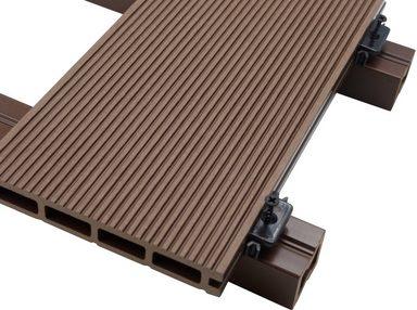 home deluxe komplett set wpc terrassendielen inkl unterkonstruktion 12 m dunkelbraun. Black Bedroom Furniture Sets. Home Design Ideas