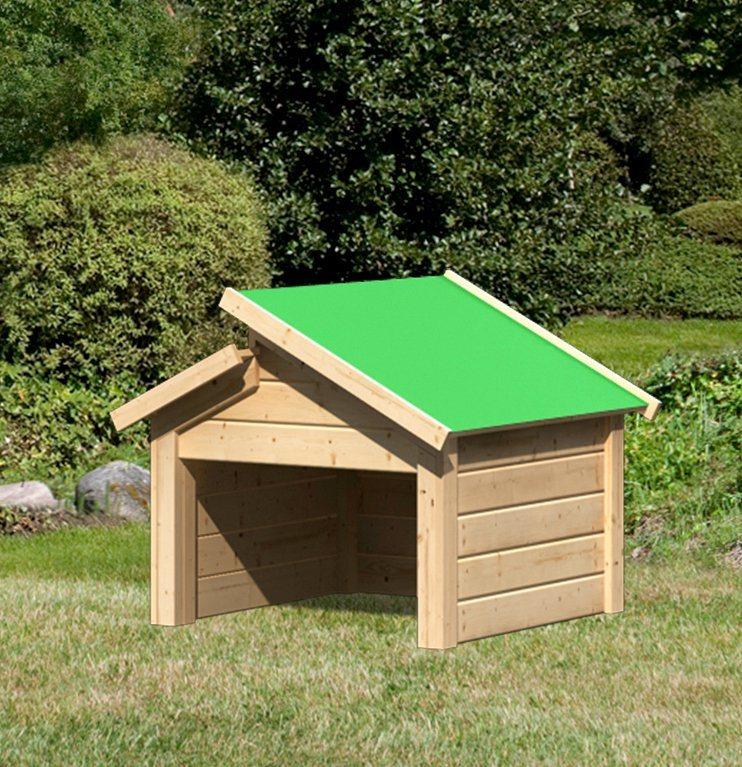 KARIBU Mähroboter-Garage , mit Stufendach, BxT: 73x77 cm | Garten > Rasenmäher und Rasentraktoren | weka