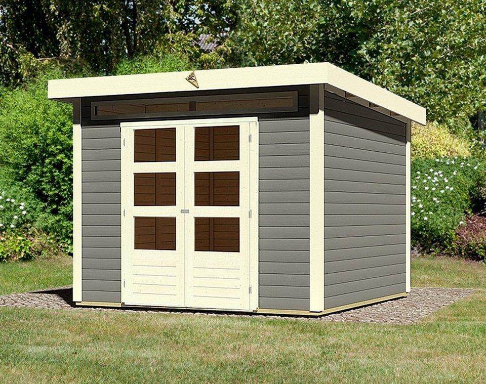 karibu gartenhaus kandern 6 bxt 274x274 cm aus lackiertem fichtenholz online kaufen otto