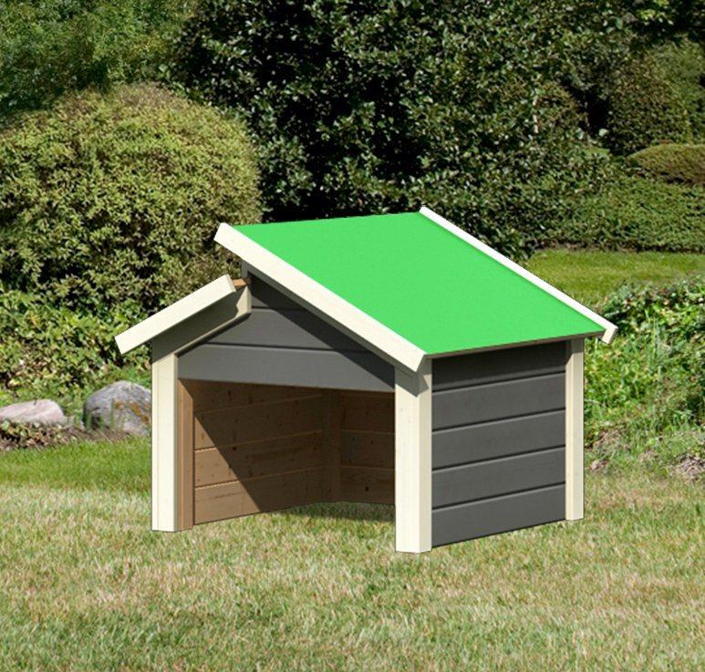 karibu m hroboter garage mit stufendach bxt 73x77 cm. Black Bedroom Furniture Sets. Home Design Ideas