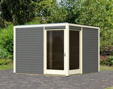 KARIBU Gartenhaus »Cubu Eck«, BxT: 304x304 cm
