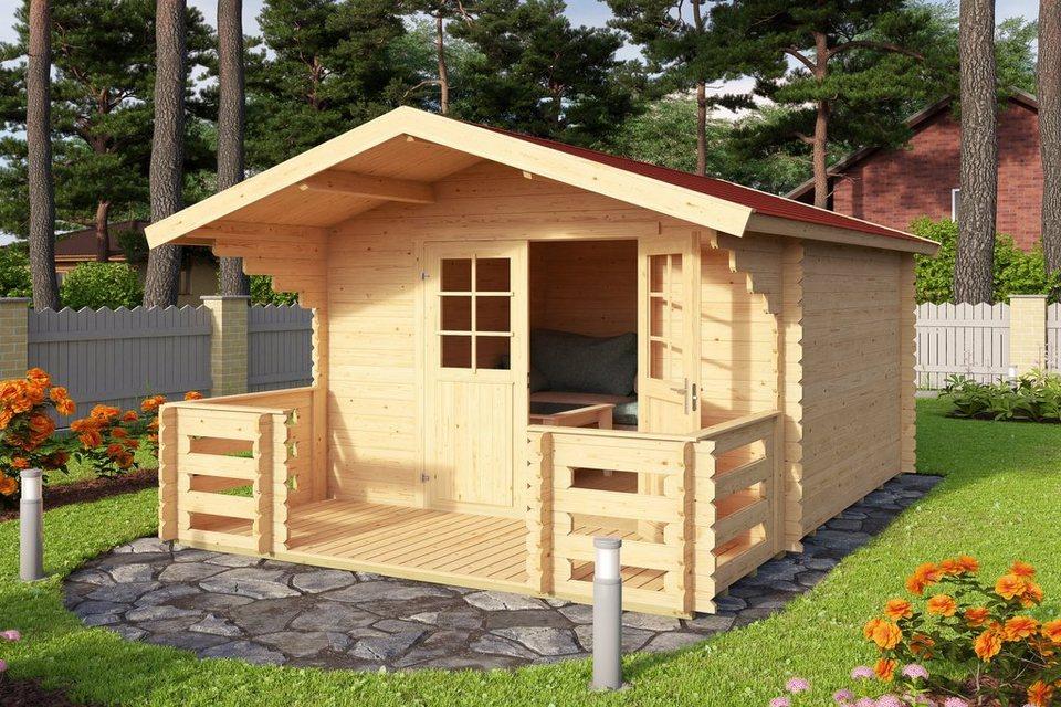 OUTDOOR LIFE PRODUCTS Set: Gartenhaus »Viljandi 484«, BxT: 320x445 cm,  inkl. Terrasse, Fußboden und Dachschindeln online kaufen | OTTO