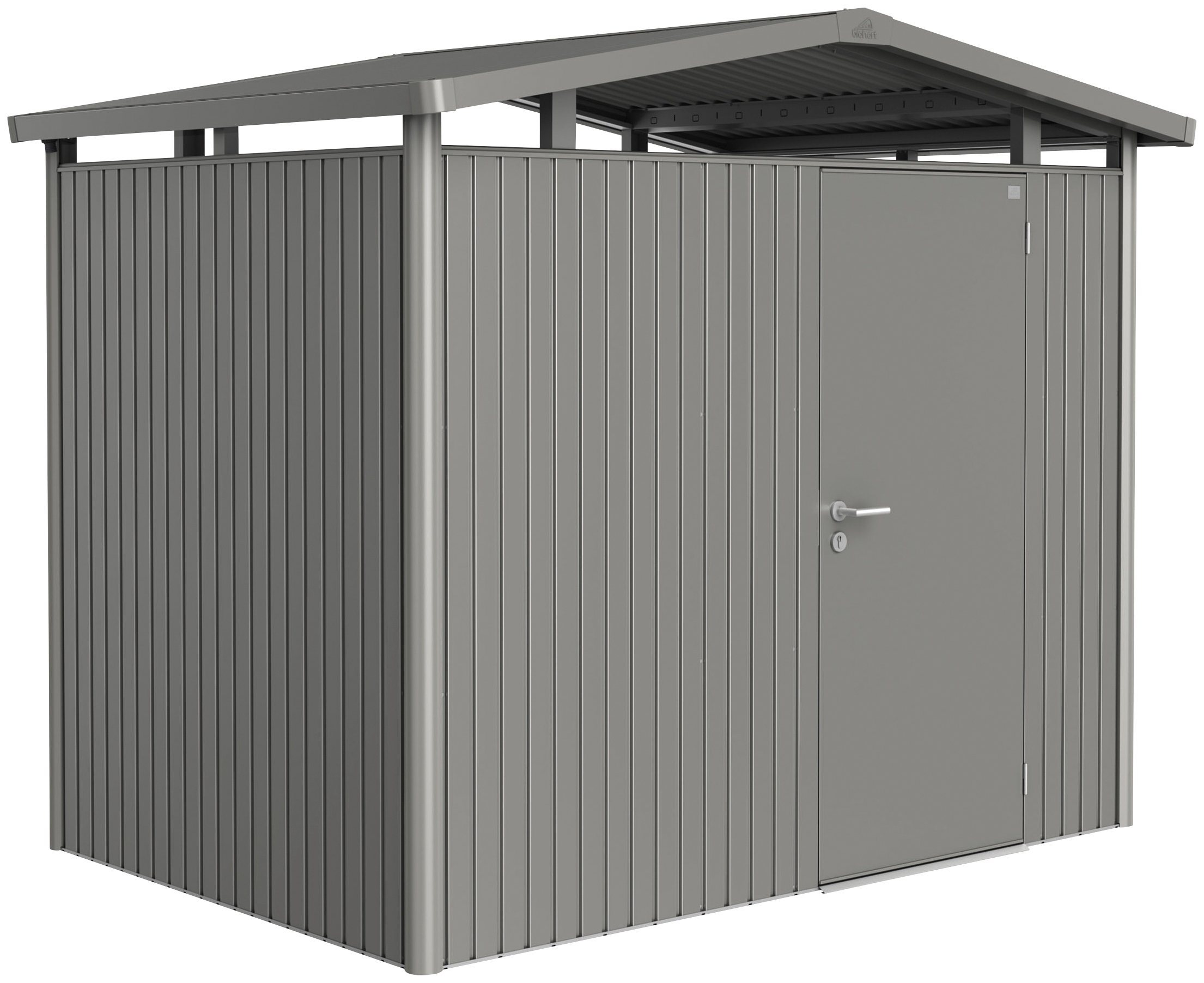 BIOHORT Stahlgerätehaus »Panorama P2«, quarzgrau-metallic, BxT: 273x198 cm | Garten > Gerätehäuser | Biohort