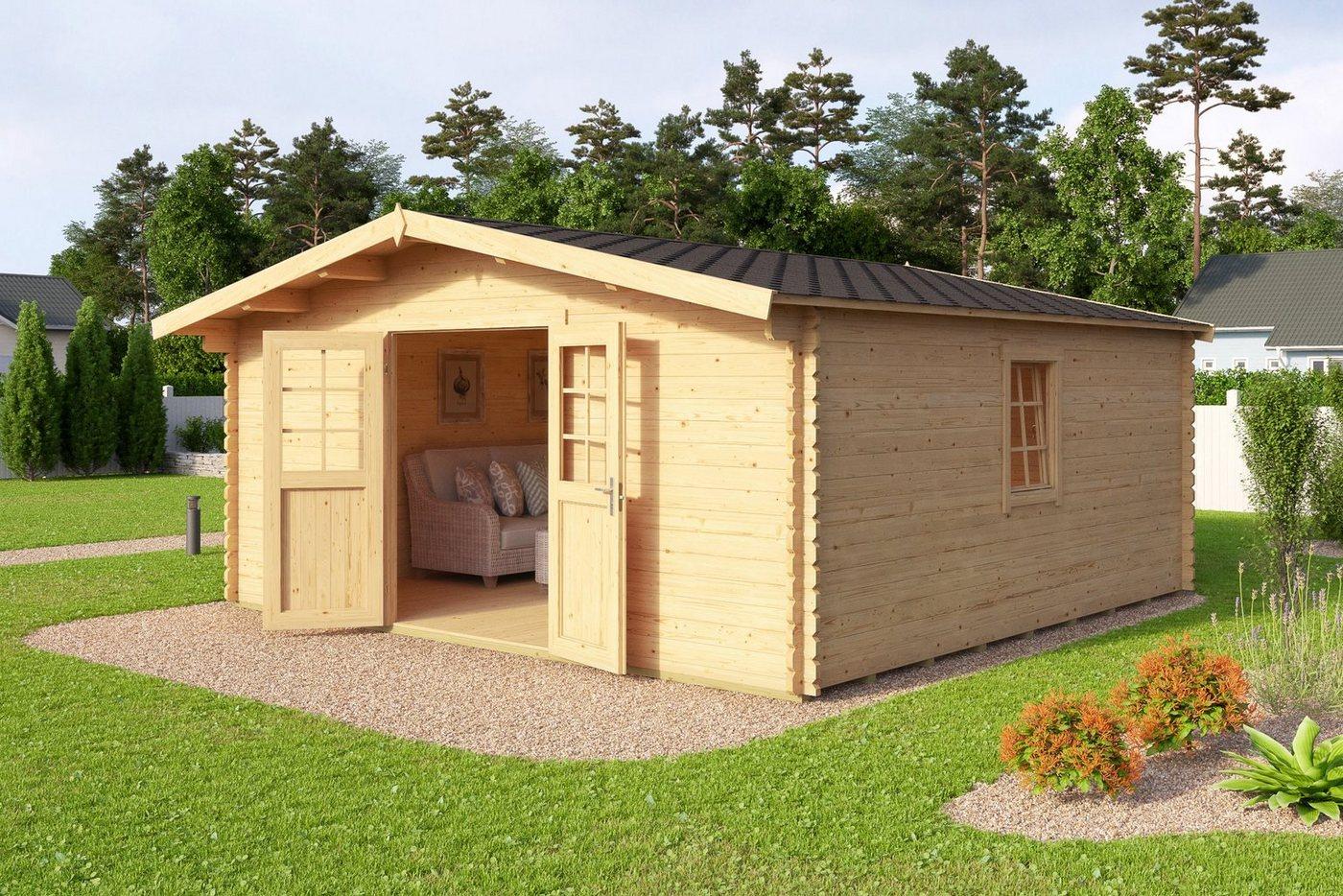 blockbohlenhaus 40mm machen sie den preisvergleich bei nextag. Black Bedroom Furniture Sets. Home Design Ideas