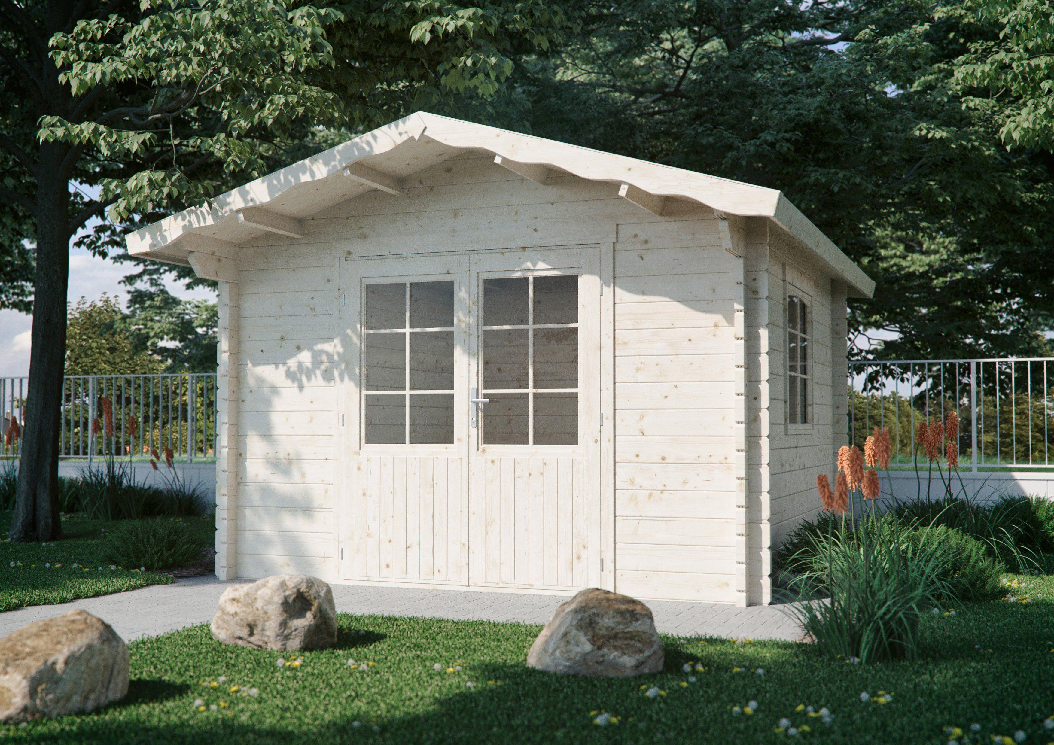 LUOMAN Gartenhaus »Lillevilla 510«, BxT: 345x384 cm, inkl. Fußboden
