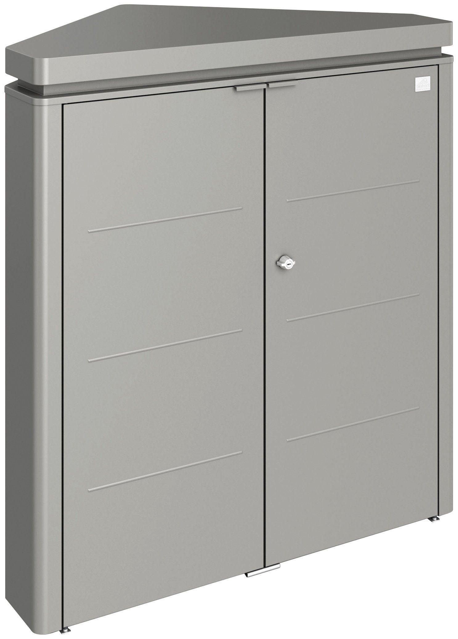 Stahlschrank »CornerBoard«, quarzgrau, BxTxH: 117x76x127 cm