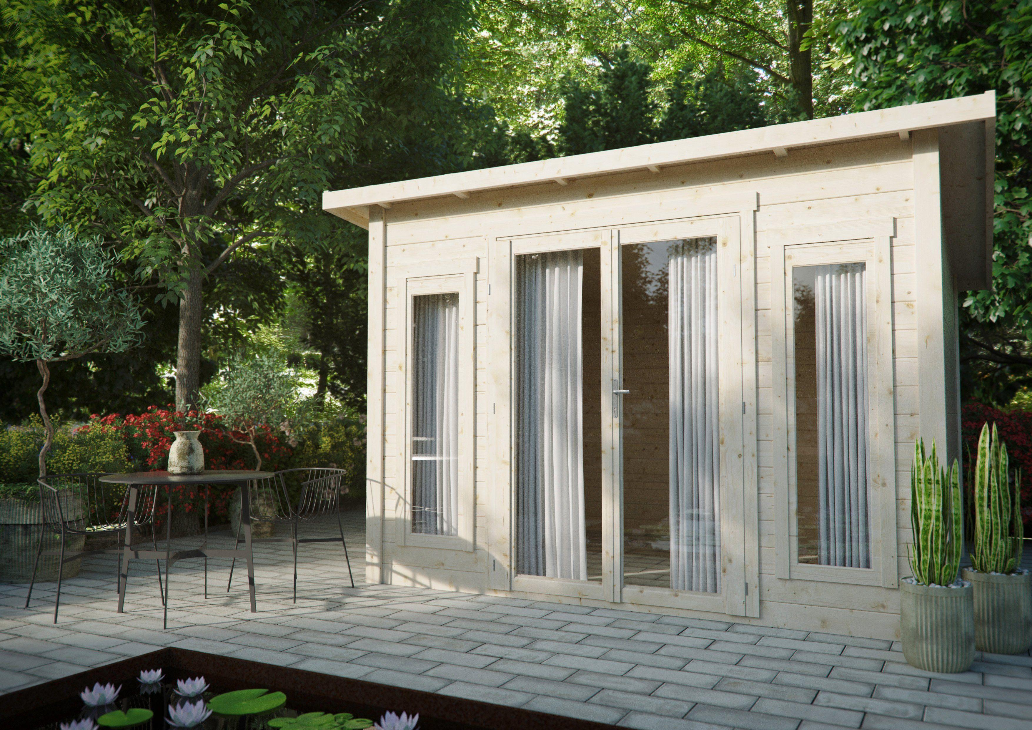 LUOMAN Gartenhaus »Lillevilla 449«, BxT: 377x345 cm, inkl. Fußboden