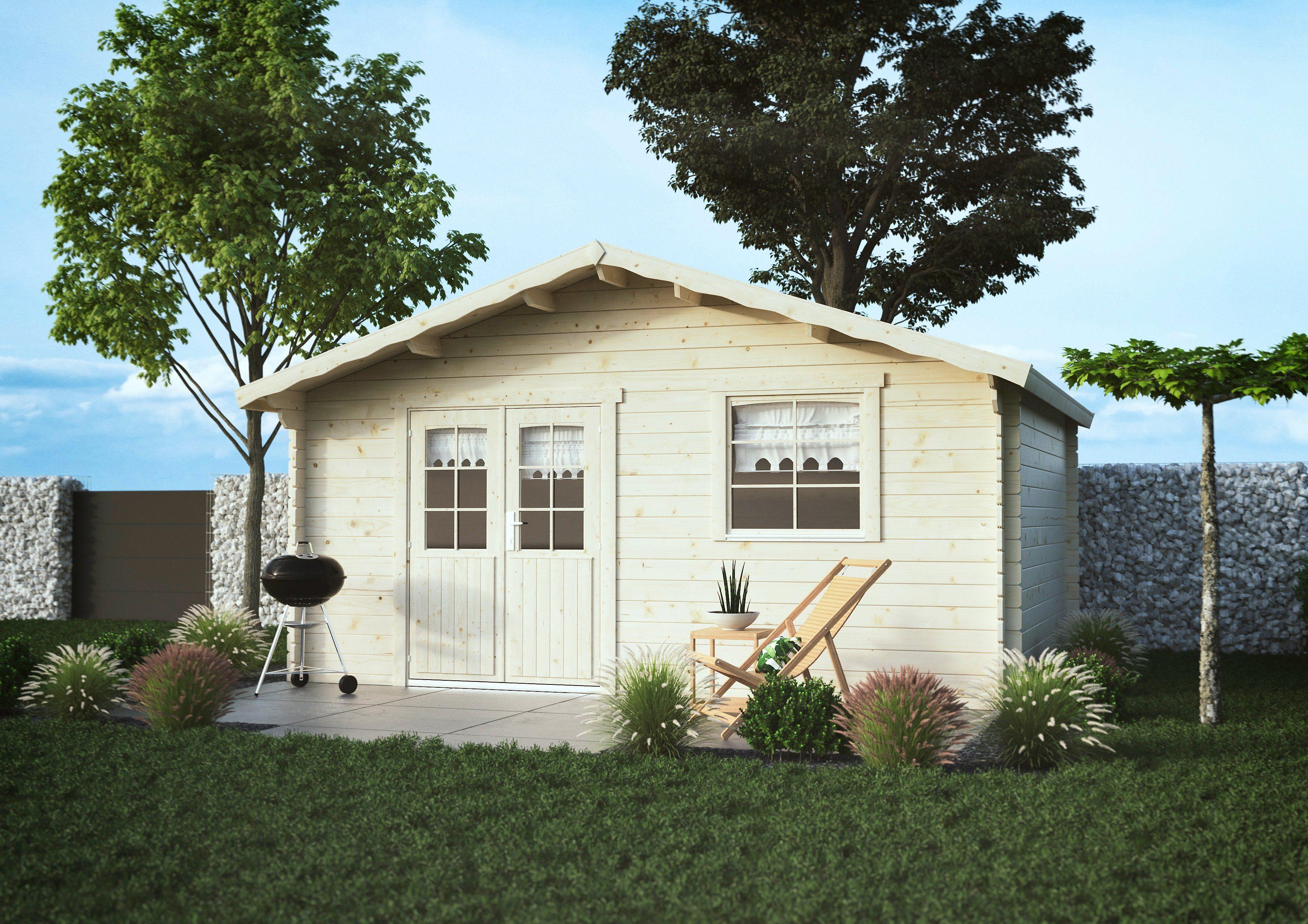 LUOMAN Gartenhaus »Lillevilla 526«, BxT: 525x448 cm, inkl. Fußboden