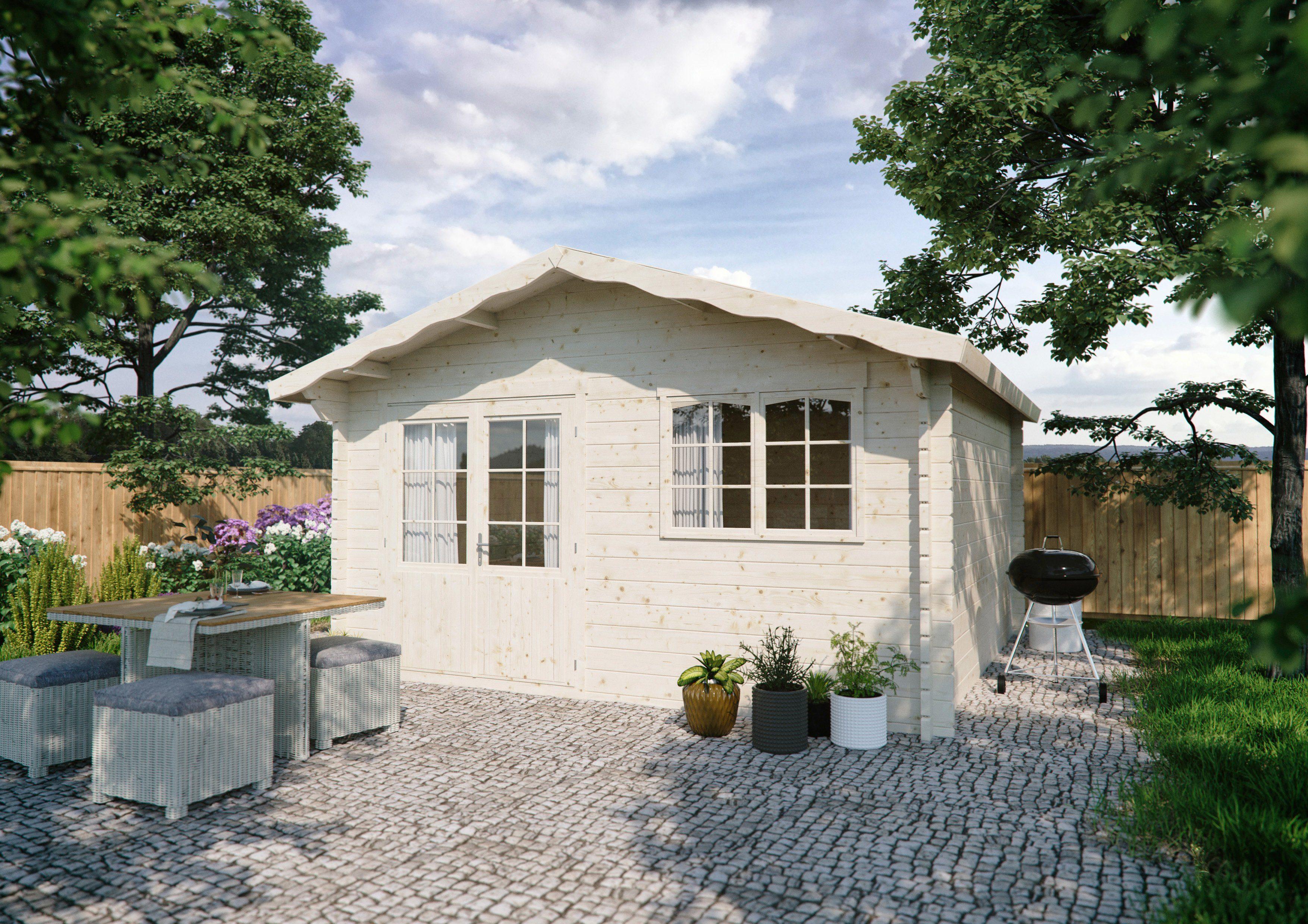 LUOMAN Gartenhaus »Lillevilla 514«, BxT: 451x483 cm, inkl. Fußboden
