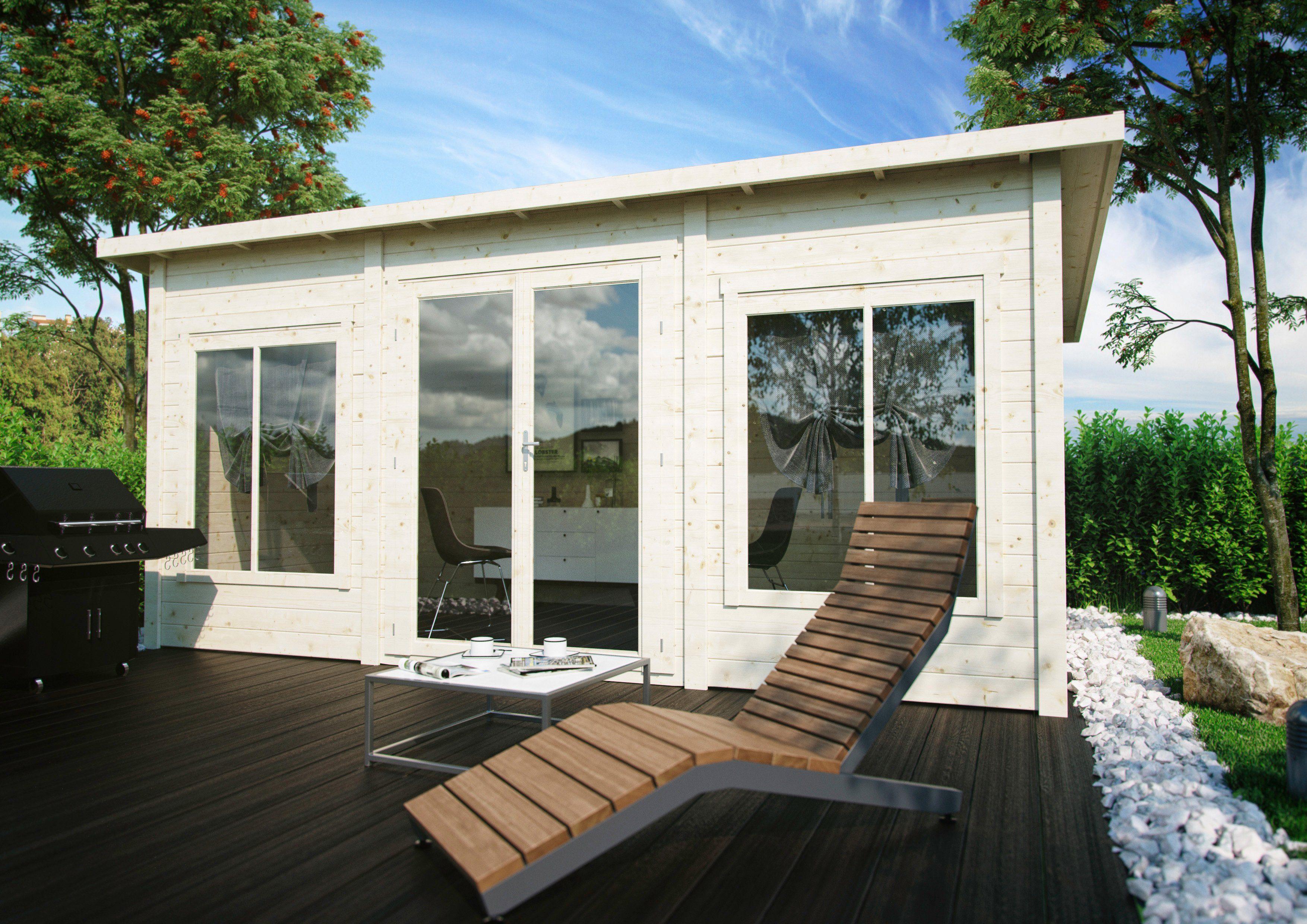 LUOMAN Gartenhaus »Lillevilla 388«, BxT: 560x339 cm, inkl. Fußboden