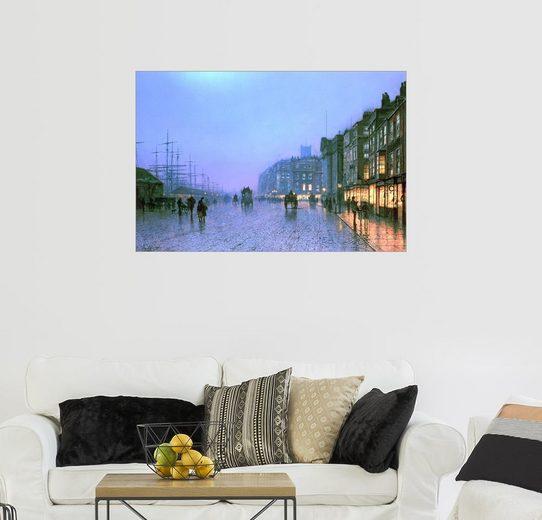 Posterlounge Wandbild - John Atkinson Grimshaw »Hafen von Liverpool«