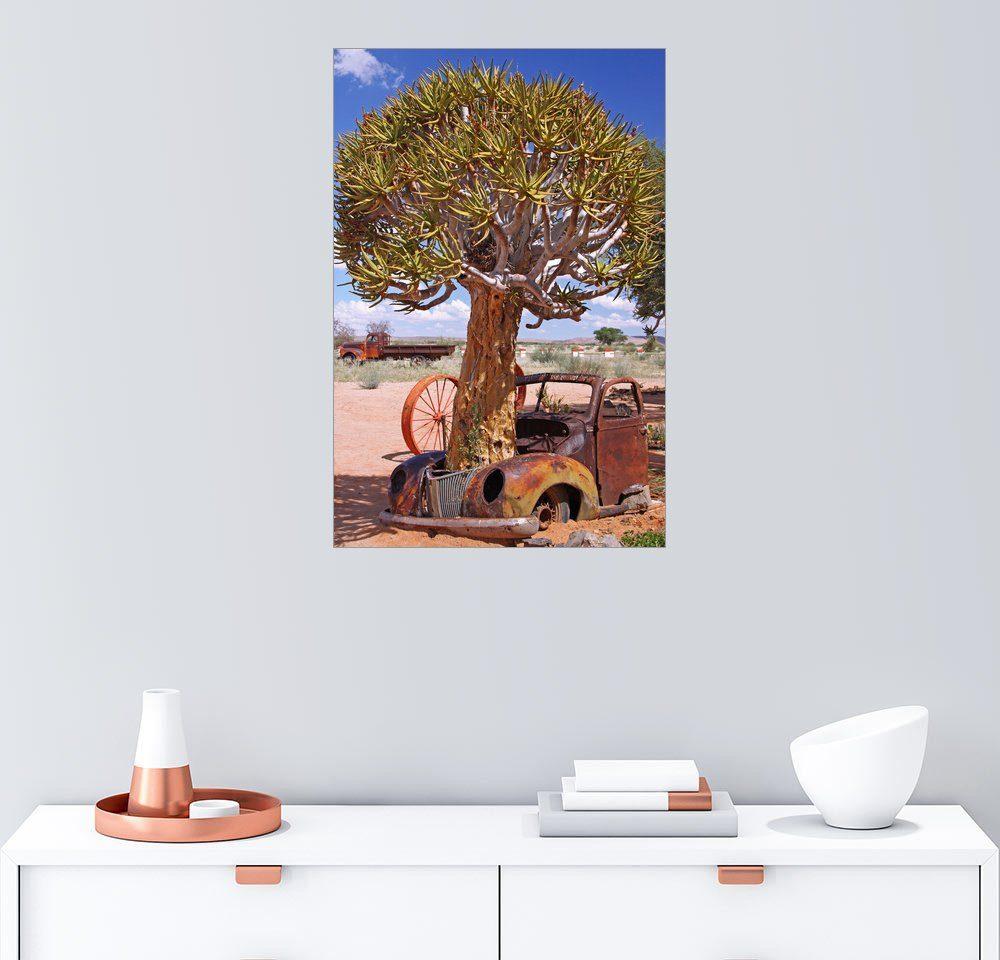 Posterlounge Wandbild - wiw »Köcherbaum im Auto - Namibia«