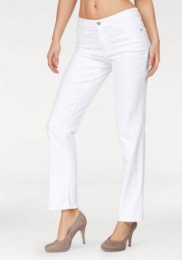 MAC Stretch-Jeans Melanie Paradise Glam, Mit Perlenbesatz in blue und grey