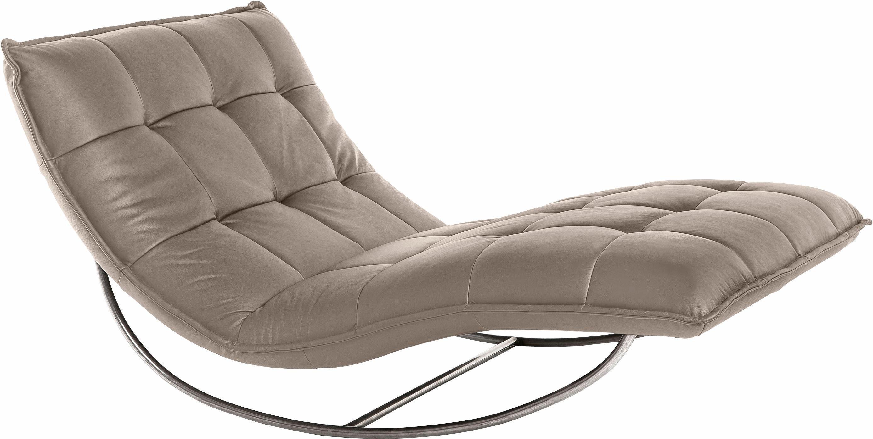 W.SCHILLIG Relaxliege »woow« mit Kopfteilverstellung, in 3 Breiten, designed by Wilhelm Bolinth | Wohnzimmer > Sessel > Relaxliegen | Leder | W.SCHILLIG