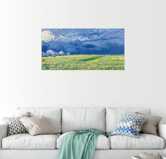 Posterlounge Wandbild - Vincent van Gogh »Weizenfeld unter Gewitterwolken«