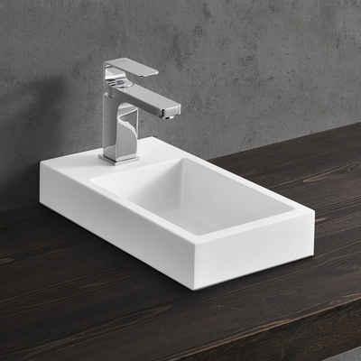 neu.haus Aufsatzwaschbecken, »Ypern« Waschbecken Handwaschbecken für Gäste WC 40x22cm weiß