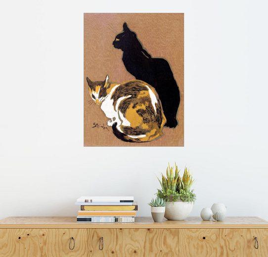 Posterlounge Wandbild - Théophile-Alexandre Steinlen »Zwei Katzen«
