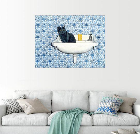 Posterlounge Wandbild - Ditz »Meine Badezimmer-Katze«
