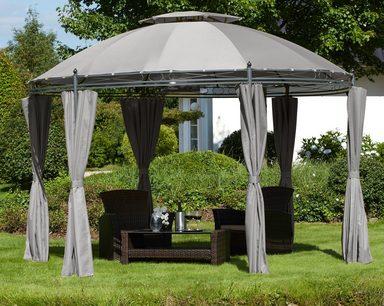 pavillon mit seitenteilen rundpavillon bxl 350 x 350. Black Bedroom Furniture Sets. Home Design Ideas