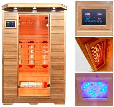home deluxe infrarotkabine redsun m 120 105 190 cm 40 mm f r bis zu 2 personen online. Black Bedroom Furniture Sets. Home Design Ideas