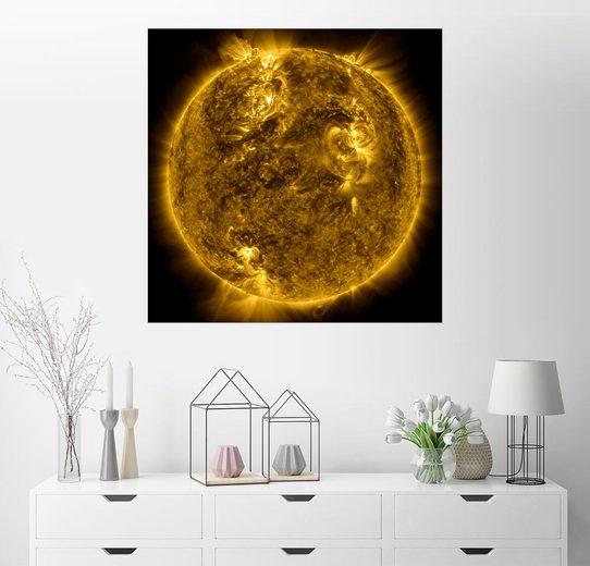 Posterlounge Wandbild - Nasa »Die Sonne mit ihrer Korona«