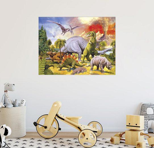 Posterlounge Wandbild - Paul Simmons »Land of the dinosaurs«