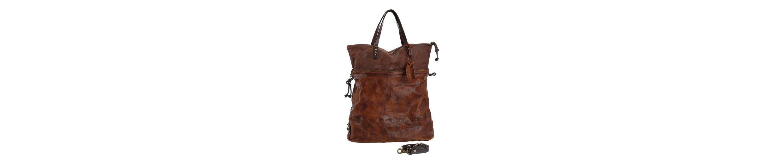A.S.98 Henkeltasche, vegetabil gegerbtes Leder, kann auch als Crossbody Bag getragen werden