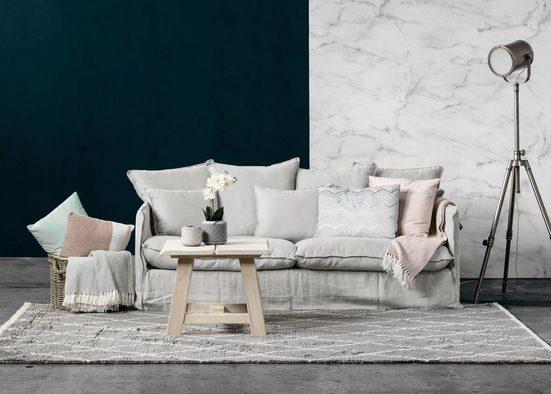 furninova 2,5-Sitzer »Copenhagen«, inklusive 4 Rücken- und 3 Zierkissen, Kissen mit Federn gefüllt, abnehmbarer Hussenbezug, im skandinavischen Design