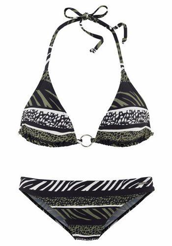 Damen Bruno Banani Triangel-Bikini grün | 04893865887956