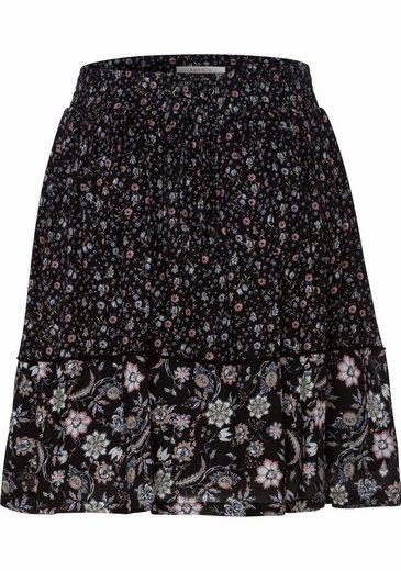 ESPRIT A-Linien-Rock, mit floralem Muster und Bindebändern