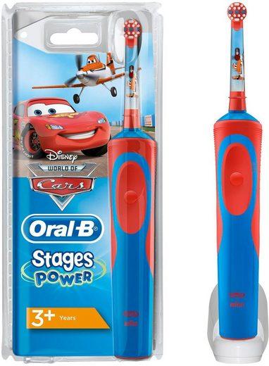 Oral B Elektrische Kinderzahnbürste Stages Power Kids, Aufsteckbürsten: 1 St., mit Disney-Autos und -Flugzeugen