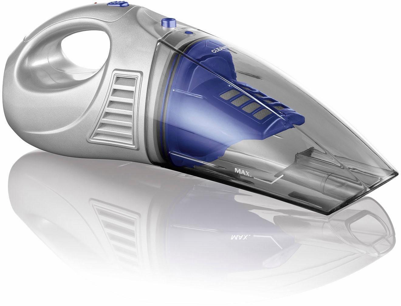 CLEANmaxx Akku-Handstaubsauger 2in1 4,8V blau/silber, 30 Watt, beutellos