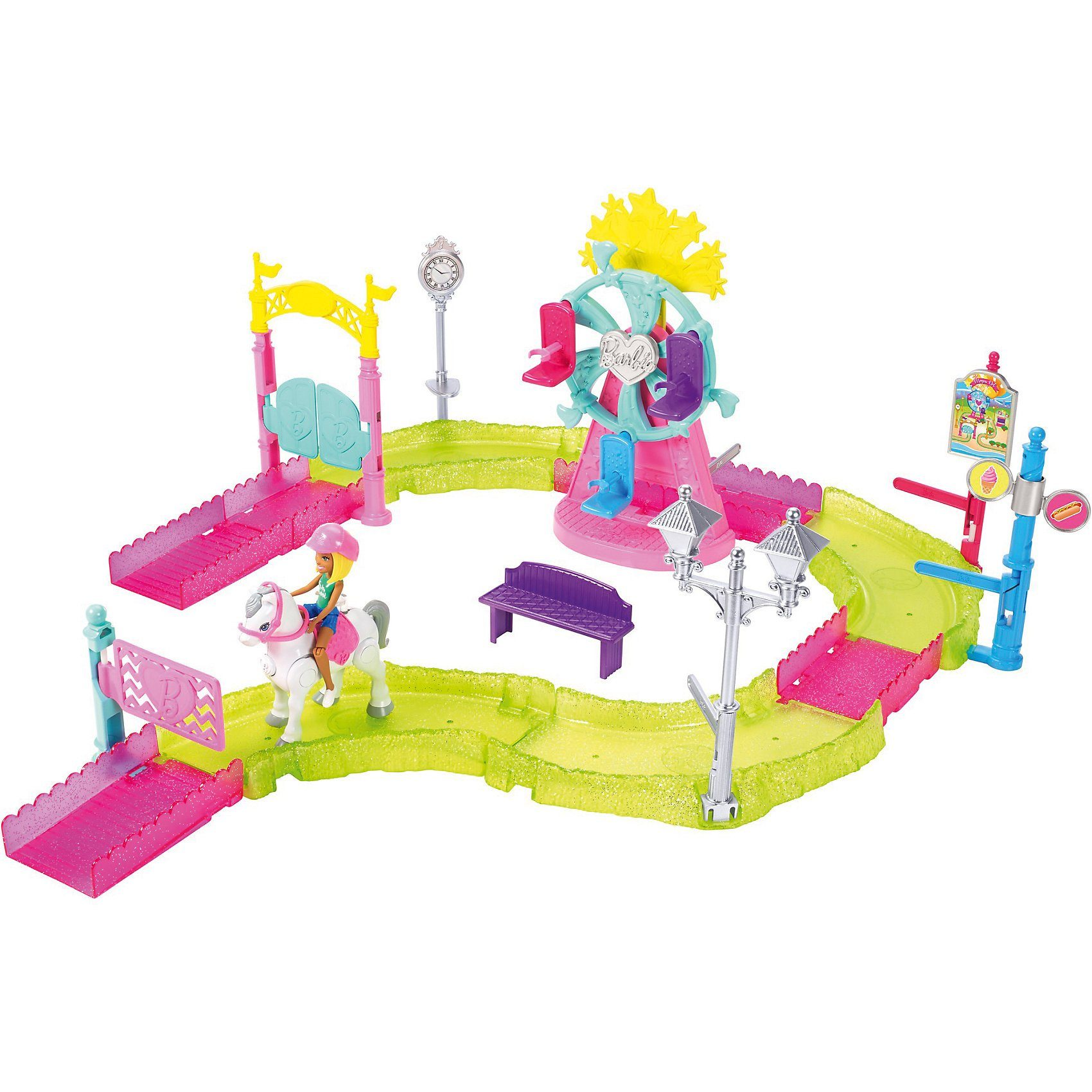 Mattel® Barbie On The Go Freizeitpark Spielset