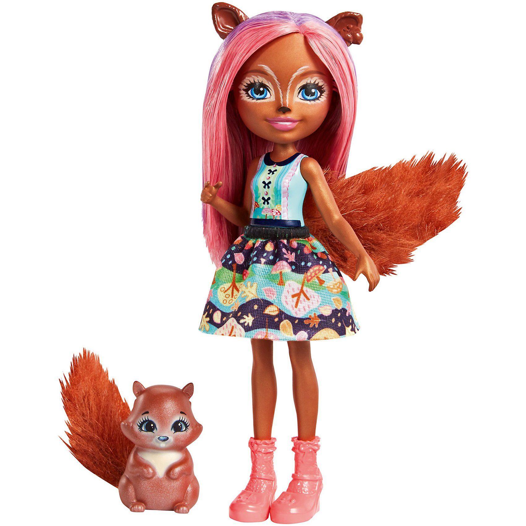 Mattel® Enchantimals Eichhörnchen-Mädchen Sancha Squirrel Puppe