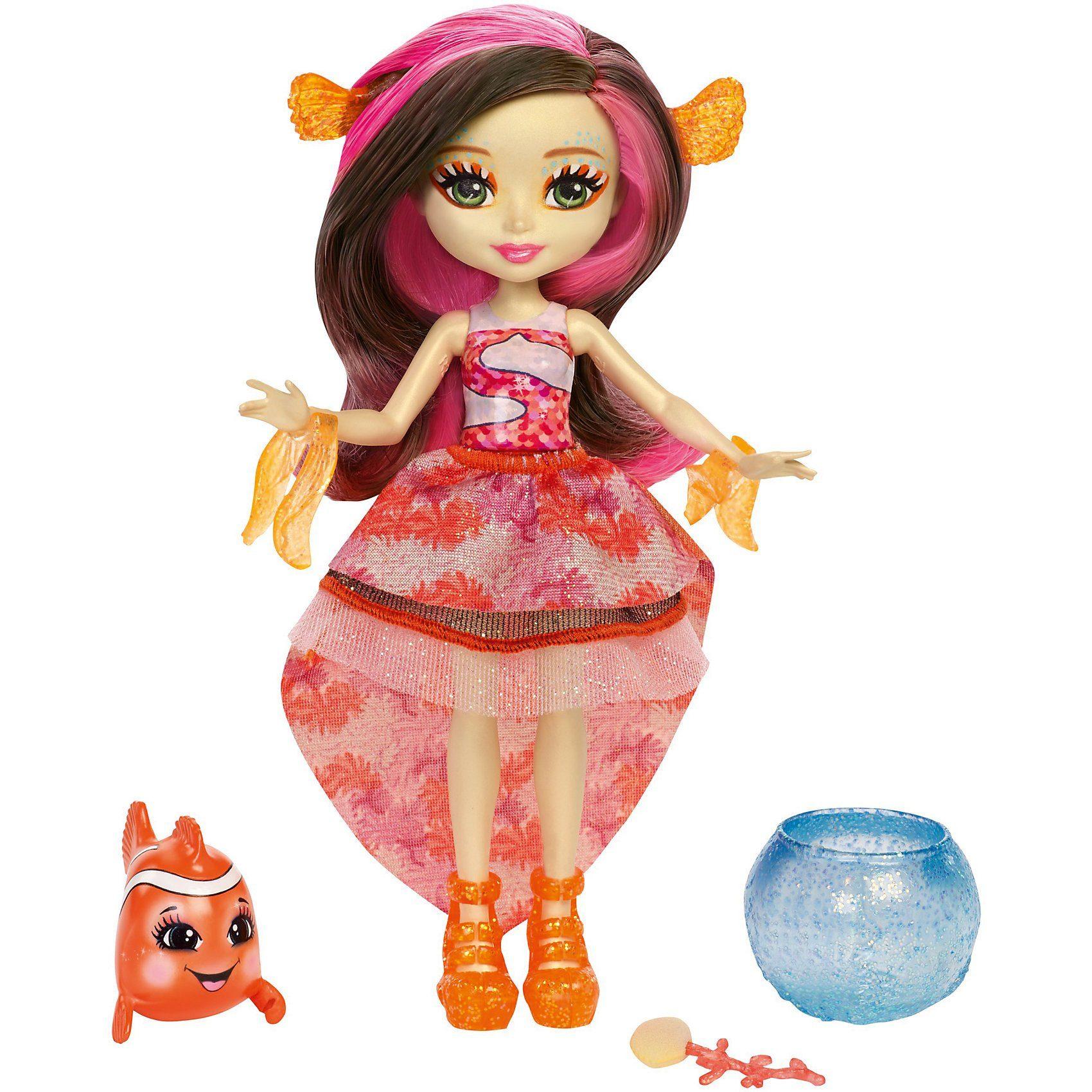 Mattel® Enchantimals Clownfischmädchen Clarita Clownfish mit Farbwec