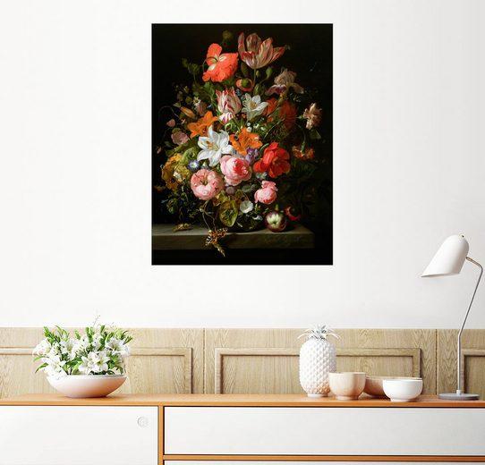 Posterlounge Wandbild - Rachel Ruysch »Stillleben mit Rosen«