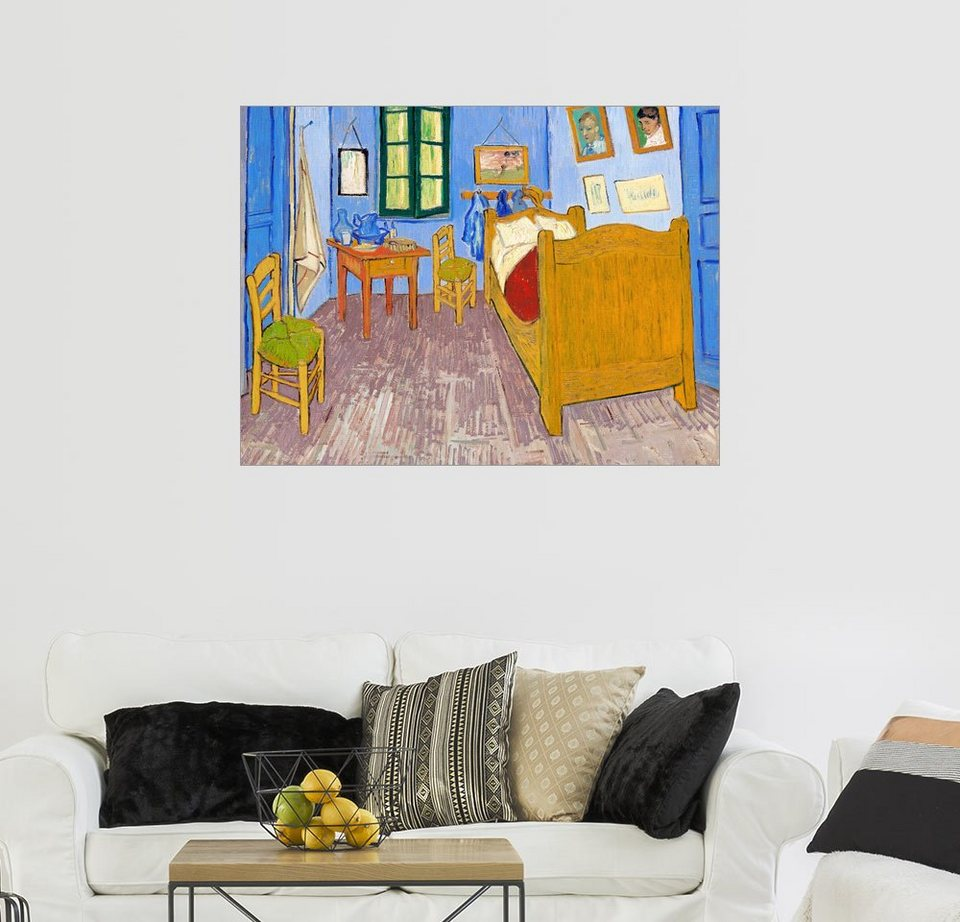Posterlounge Wandbild - Vincent van Gogh »Vincents Schlafzimmer in ...