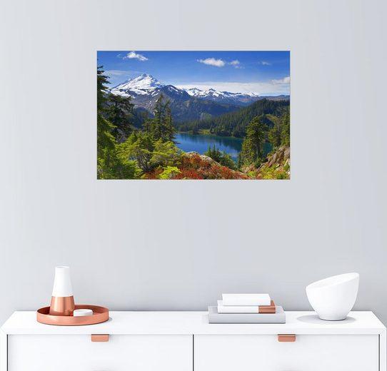Posterlounge Wandbild - Don Paulson »Iceberg Lake und Mount Baker«