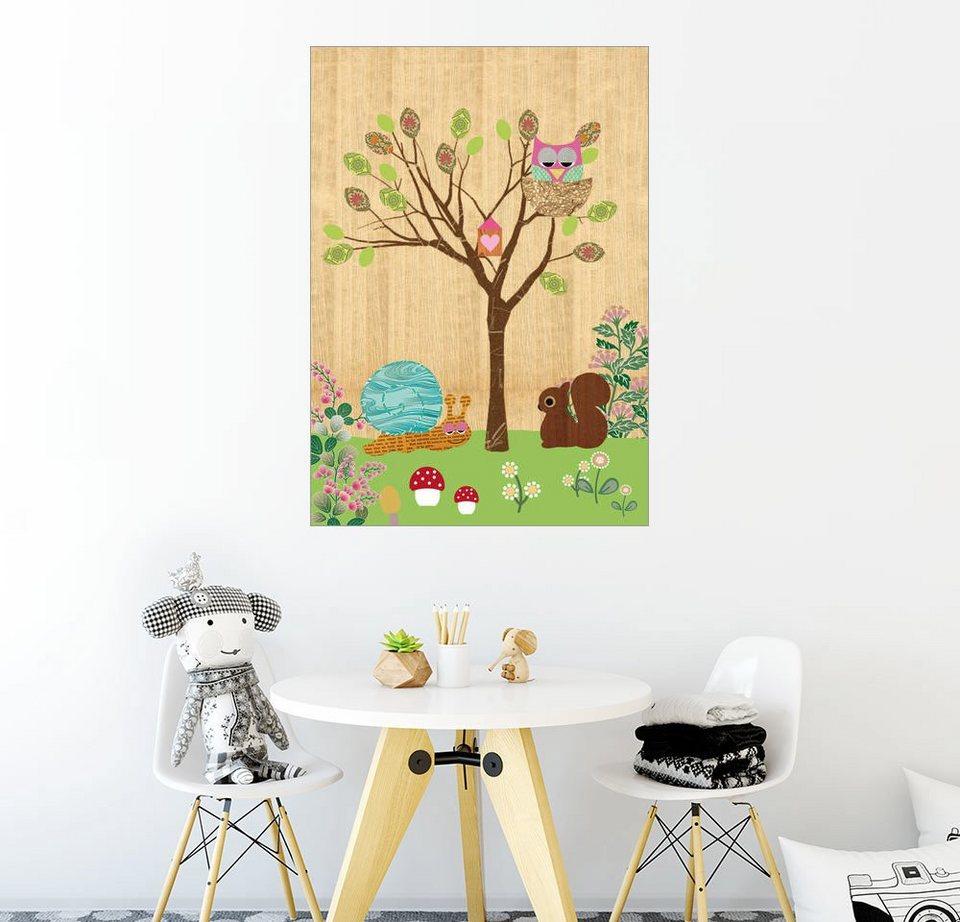 posterlounge wandbild greennest tiere auf holz hintergrund online kaufen otto. Black Bedroom Furniture Sets. Home Design Ideas