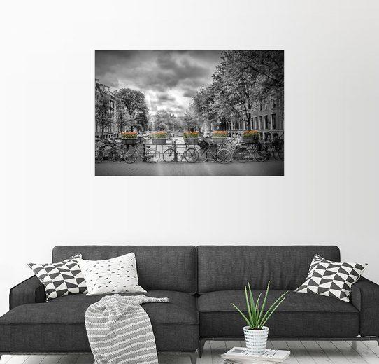 Posterlounge Wandbild - Melanie Viola »Typisch Amsterdam«